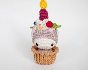Birthday Ella Pincushion crocheted