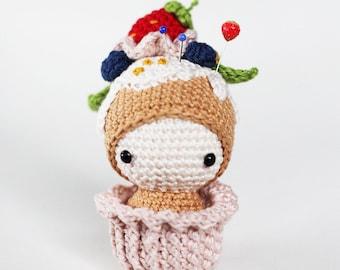 Strawberry Ella Crocheted Pincushion