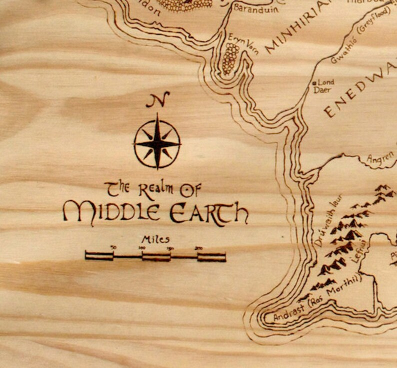 This is an image of Luscious Printable Map of Middle Earth