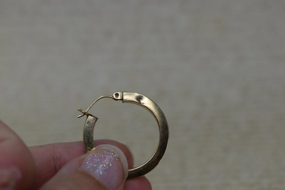 Vintage 14k Yellow Gold Hoop Earrings, Statement … - image 9