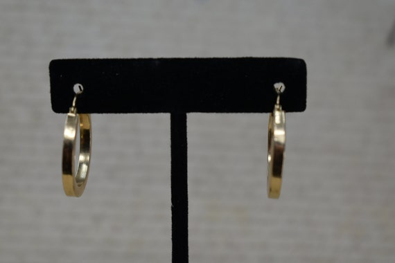 Vintage 14k Yellow Gold Hoop Earrings, Statement … - image 7