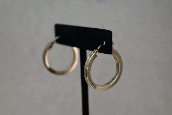 Vintage 14k Yellow Gold Hoop Earrings, Statement … - image 8