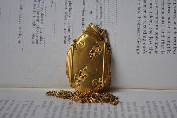 Vintage Locket, Large Gold Filled Locket - 1920s A