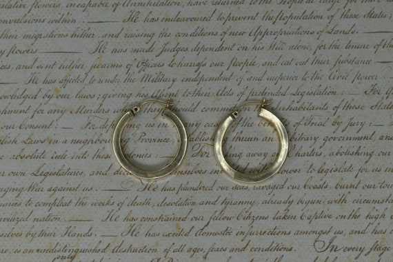 Vintage 14k Yellow Gold Hoop Earrings, Statement E