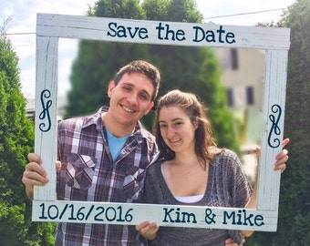 Wedding Photobooth Frame - Rustic Wedding Photo booth - Shabby Chic Photobooth - Engagement Photo Prop - Save the Date - Wood Frame Prop