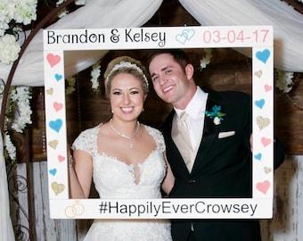 Wedding Photobooth Frame - Engagement Photo Prop - Save the Date Frame Prop - Wedding Photo Booth - Wood Frame Prop - Weddding Frame Prop -