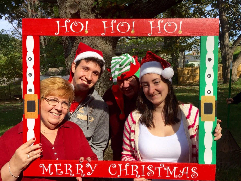 Christmas Photobooth Frame Prop Holiday Photobooth Etsy