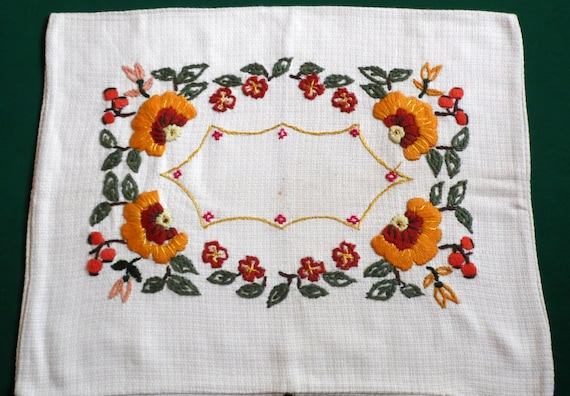 Vintage Pillowcase Hand Embroidery Pillow Cover Hand Etsy