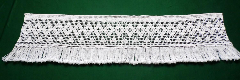 de algodón blanco / crema cortina de ventana de ganchillo   Etsy