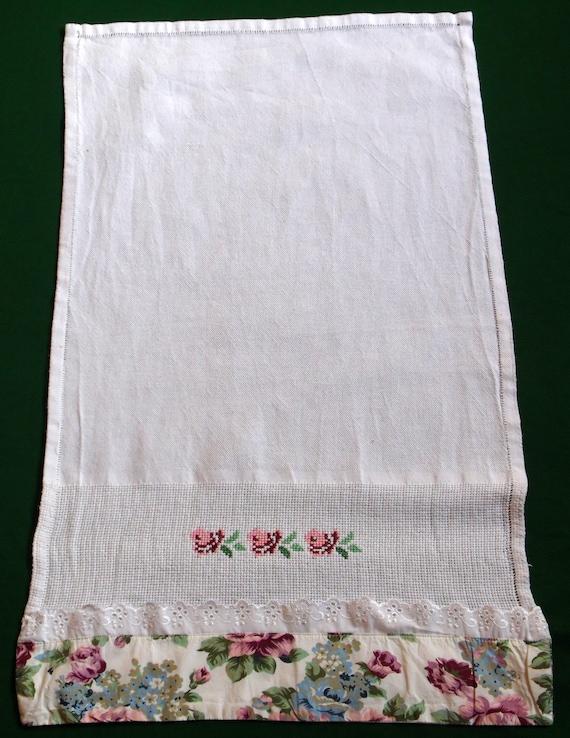 Algodón Vintage decorativo pequeño mano mano bordada toalla | Etsy
