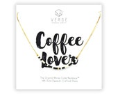 Coffee Lover Morse Code Necklace, Coffee Gift, Coffee Lovers Gift, Coffee Themed, I Love Coffee, But First Coffee, Coworker Gift, Caffeine