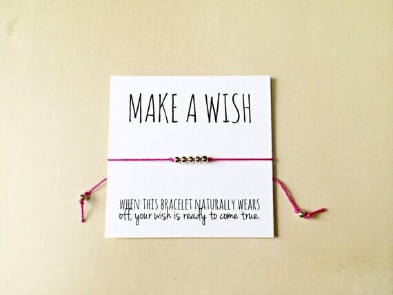wish bracelet make a wish bracelet friendship bracelet etsy