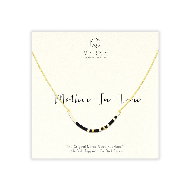 MOTHER IN LAW Mother In Law Morse Necklace