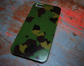 Military Camo Phone Case For iPhone 6 / (4.7) / 4.7 / 5c /  5s / 5 / 4s / 4 Plastic Men Army Military Forest Camouflage Soldier Green c47