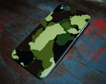 Traditional Camo Phone Case For iPhone 6 / (4.7) / 4.7 / 5c / 5s / 5 / 4s / 4 Hard Plastic Men Boy Camouflage Military Green Phone Army c44