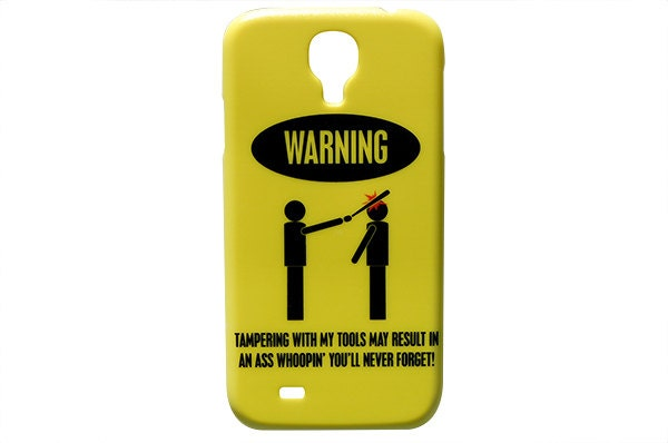 newest e769b 45d3c Warning Tampering With My Tools May Result In An Ass Whoopin' You'll Never  Forget ! Mechanic Phone Case for Samsung Galaxy S4 S5 Funny c162