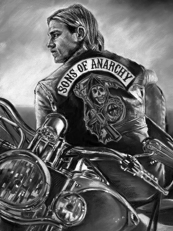 sons of anarchy jax teller painting poster print canvas