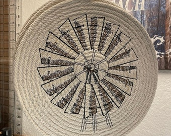 Windmill Trivet, Made in USA