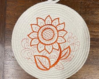 Sunflower Trivet, Made in USA