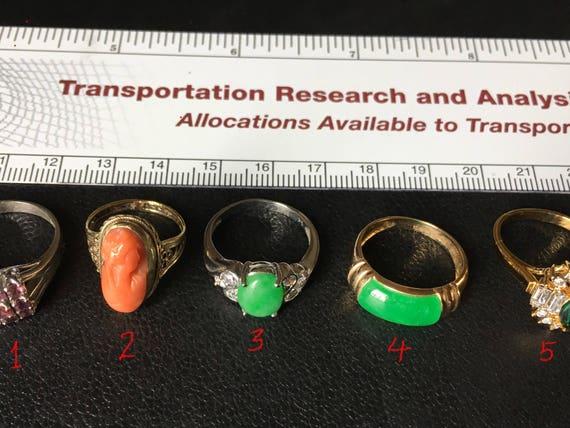 Sale!!    5 Vintage Rings, Chinese
