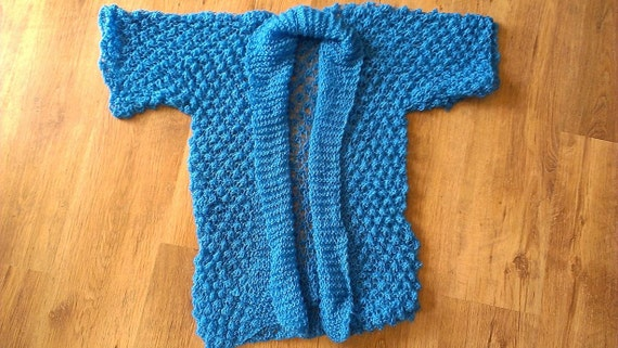 Hand Knitted Sweaters Women Jumpers Hand Knitted Sweater Women Jumper Handmade Blue Beautiful For Women Girls Size S M Long Sleeve Size M