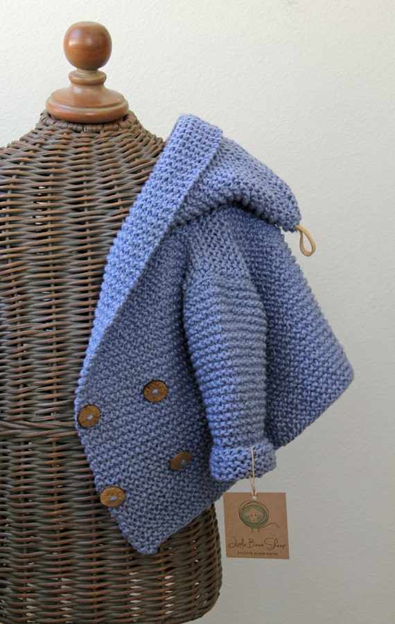eb86f49ed Items similar to Hand knitted Handmade Baby Organic Cotton Sweater ...