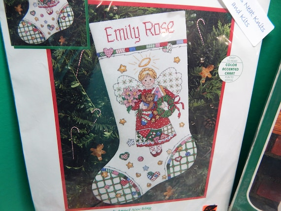 Dimensions Christmas Stocking Kits.Christmas Village Dimensions Or Snow Bear Bucilla Or Country Patchwork Angel Christmas Stocking Kits Cross Stitch Sold Individually