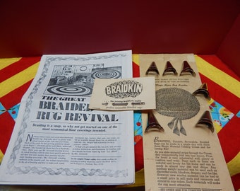 Magic Home Rug Braider and Braidkin Instructions, Reversible Braided Rugs Vintage