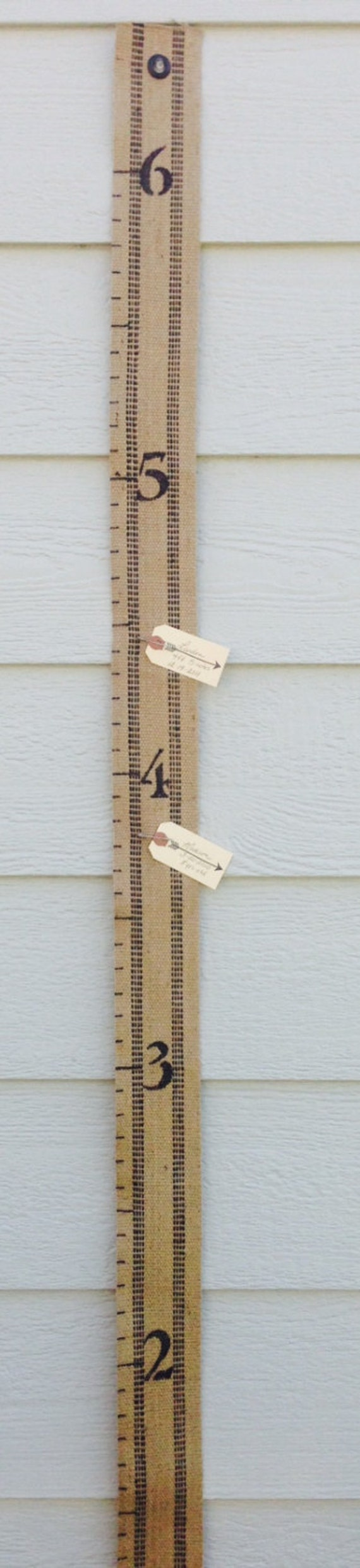 Fabric Jute Growth Chart For Kids 6 Foot Childs Height Etsy