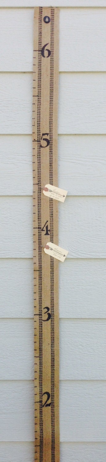 Fabric Jute Growth Chart For Kids 6 Foot Childs Height Chart