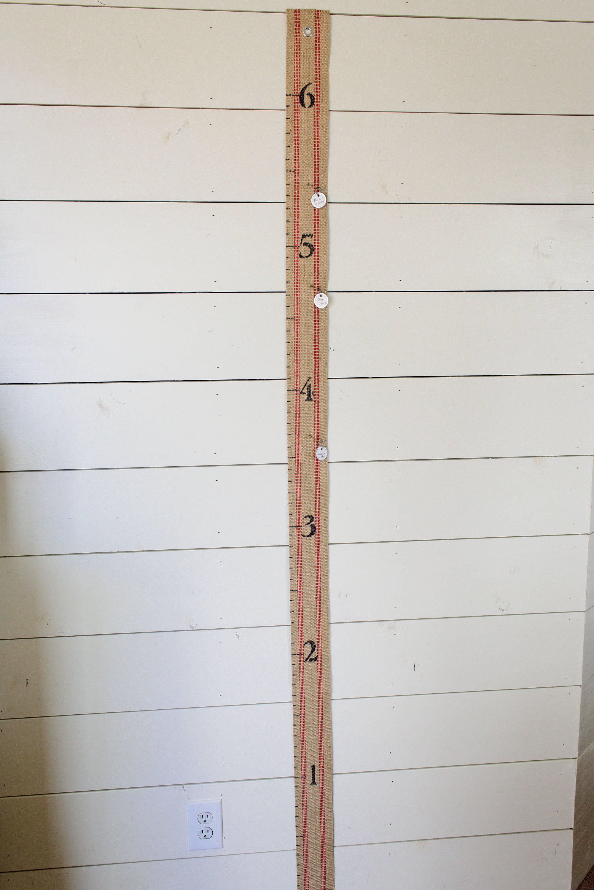 Jute Growth Chart For Kids 6 Foot Childs Height Chart Perfect For