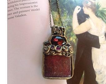 Purple-jewelry Necklace crystal purple Necklace stone gift Jewelry Statement Elegant Renaissance-necklace Gemstone-necklace pendant Her-gift