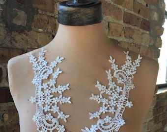 White Applique Venice Lace for Bridal, Lolita, Sweaters, Lace Necklaces, Costumes