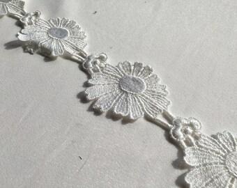 Venice floral lace White Venice lace trim