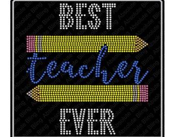 Rhinestone templates etsy best teacher ever back to school rhinestone template for cricut scan n cut silhouette rhinestone pattern diy 16 72 spiritdancerdesigns Choice Image