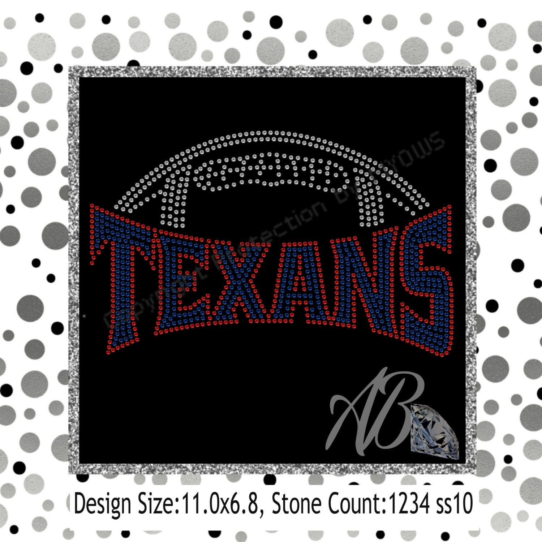 Texans Football rhinestone template for Cricut Scan n cut
