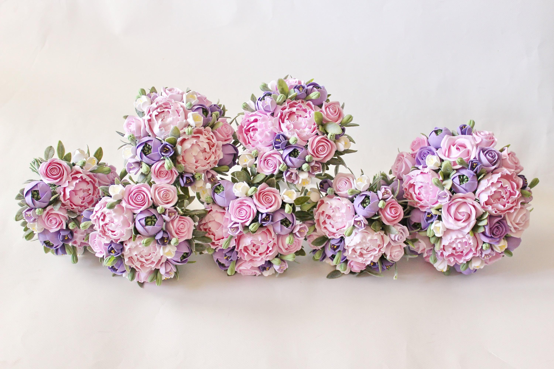 Pink purple wedding set Wedding bouquet Keepsake Succulent | Etsy