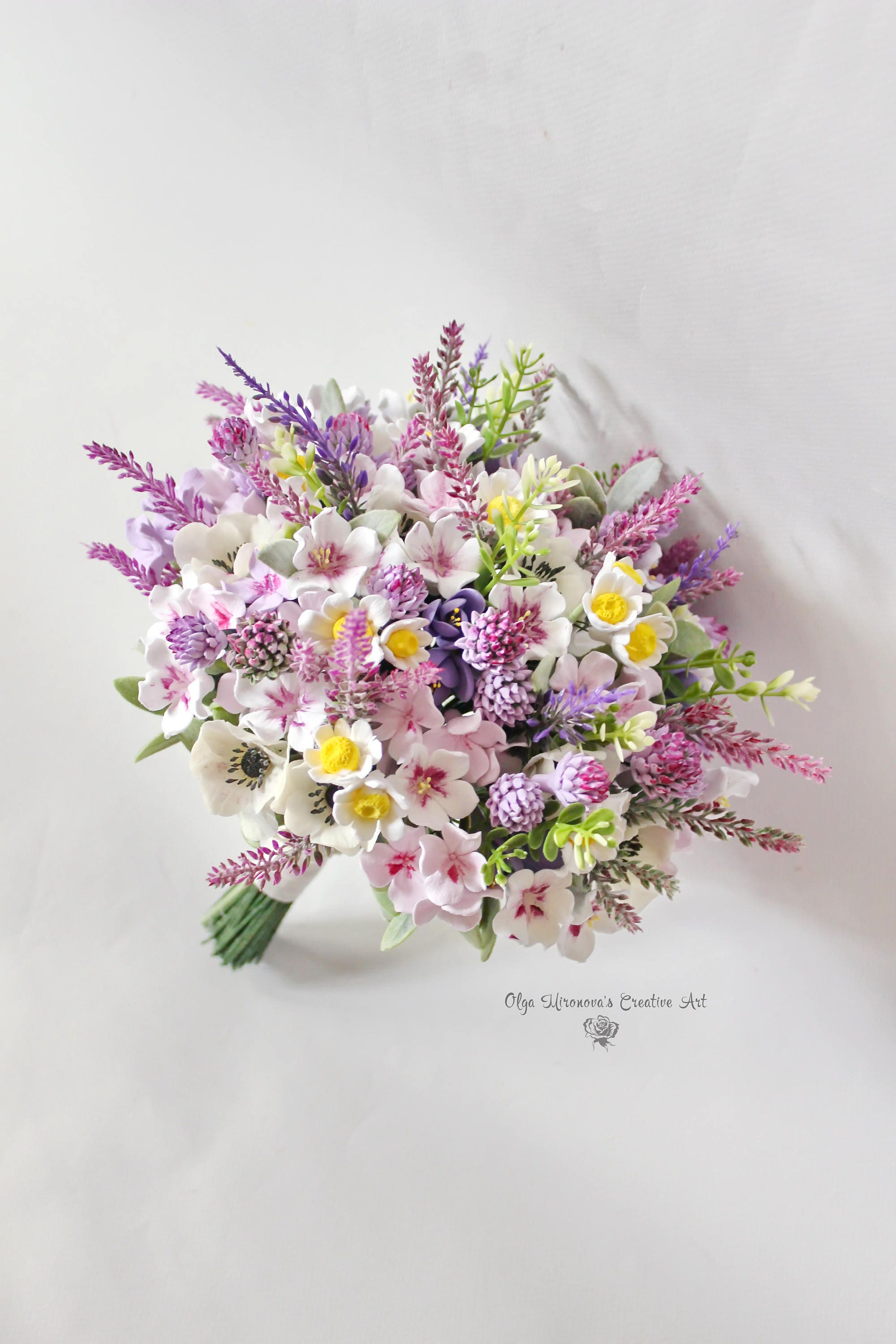 Wild flowers bouquet wedding bouquet bridal bouquet lavender etsy zoom izmirmasajfo