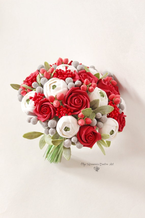 Alternative Hochzeit Blumenstrauss Andenken Strauss Rote Rosen Etsy