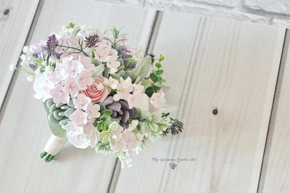 Wedding Bouquet Keepsake Succulent Bouquet Cherry Blossom Etsy