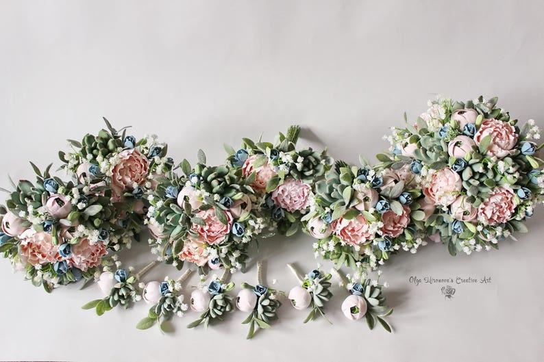 08a7417cbb72 Set di nozze alternativo bouquet damigelle d onore mazzo