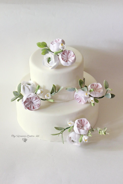 Peony Roses Cake Topper Flower Wedding Cake Flower Floral Etsy