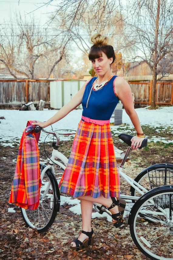 Vintage Plaid Dress • Vintage Plaid Blazer • Vinta