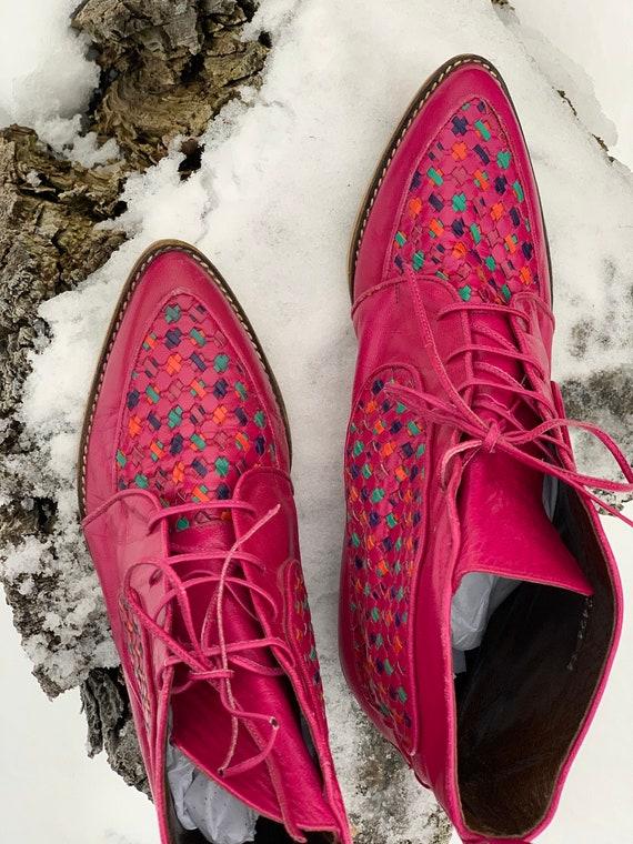 Vintage Boots • Pink Vintage Boots • Vintage Leat… - image 2