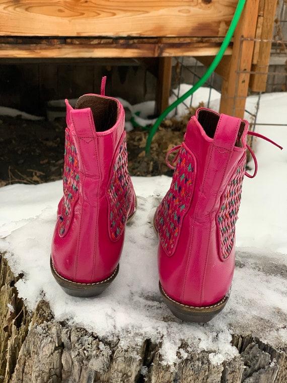 Vintage Boots • Pink Vintage Boots • Vintage Leat… - image 4