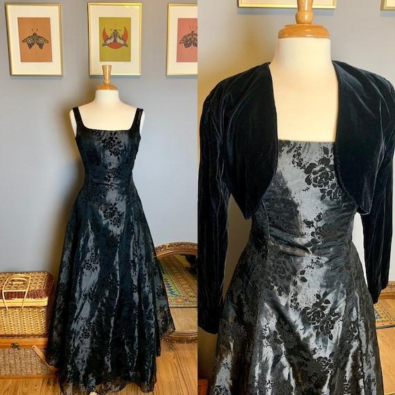 Vintage Gunne Sax Dress • Velvet Gunne Sax Dress •