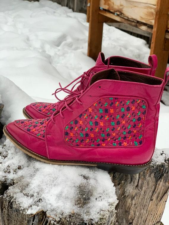 Vintage Boots • Pink Vintage Boots • Vintage Leat… - image 5