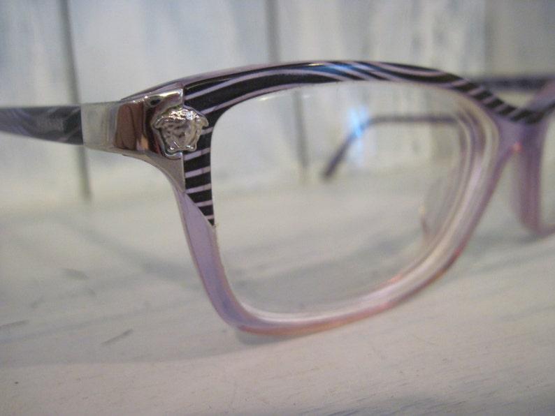 Vintage Versace Made in Italy purple violet color full rim glasses for women, ladies unique gift elegant retro eyeglasses frames 135 53 15
