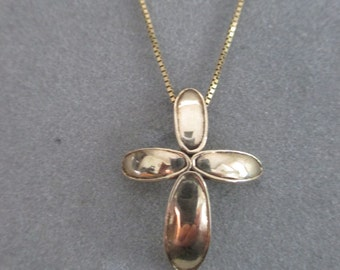 14Kt Yellow Gold Petal Cross Pendant #PDT4YG