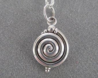 Sterling Silver Spiral Pendant #PDT07SS